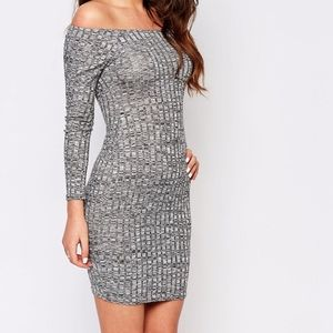 ASOS Off the shoulder Bodycon Dress